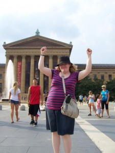 Preggonaut conquers the Rocky Steps